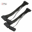 2Pcs Dual PSU Power Supply 24Pin Extension Cables for Mining