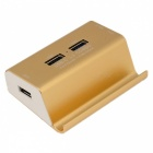 KELIMA-Multi-function-USB-30-HUB-Card-Reader-with-Bracket-Golden