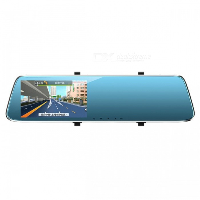 SPO-HD-1080P-LCD-Car-DVR-Rearview-Mirror-Camera-Blue-Black