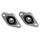KFL08 8mm zink-aluminium legering fläns pillow block lager (2 PCS)