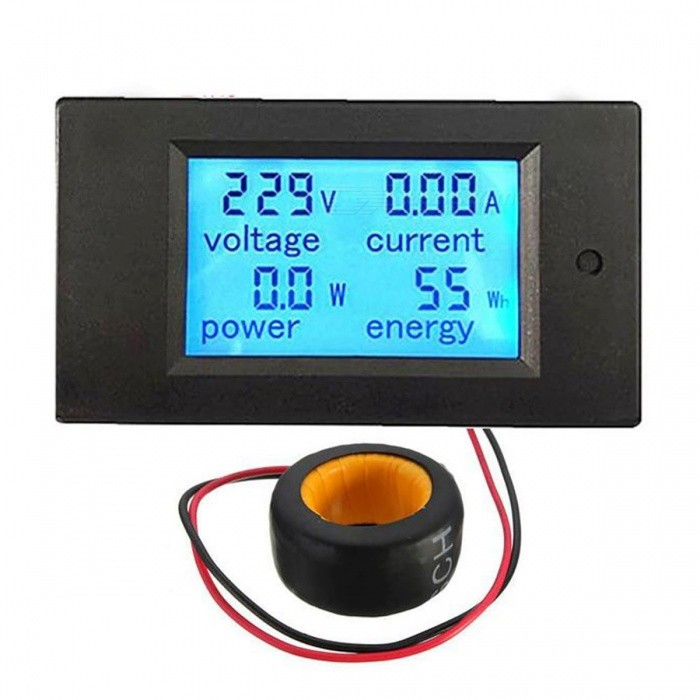 Digital AC 80~260V 20A Voltage Meters Voltmeter - Black