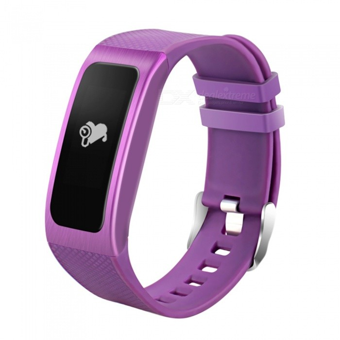 DB04 Smart Bracelet with Heart Rate and Blood Pressure - Purple