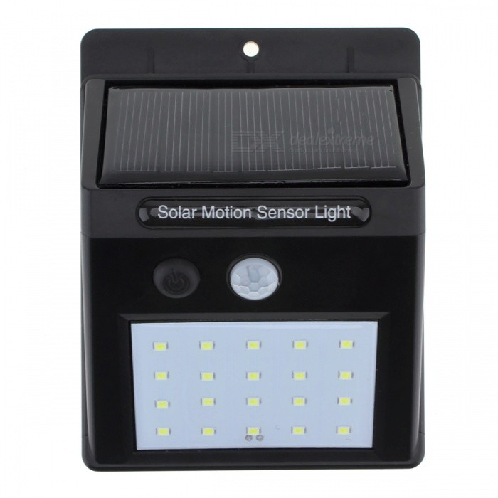 Buy Outdoor Waterproof LED Solar Power PIR Motion Sensor Wall Light with Litecoins with Free Shipping on Gipsybee.com