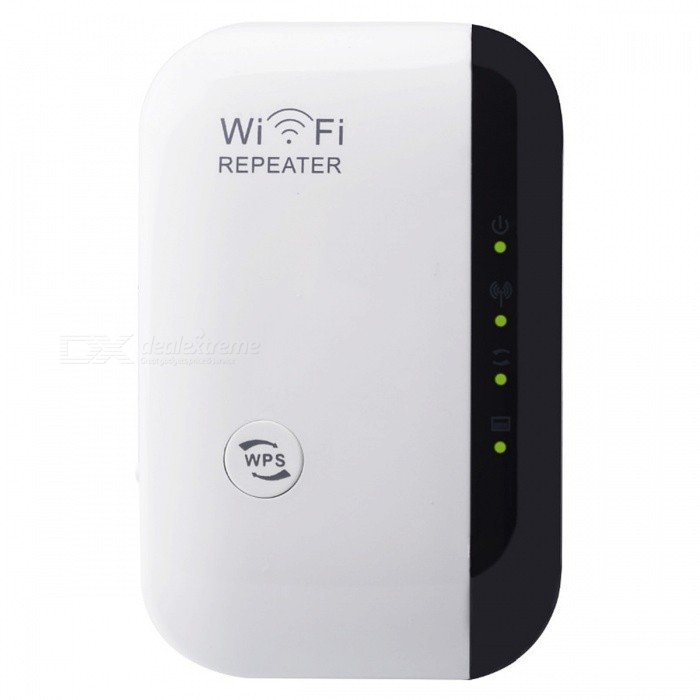 802.11b/g/n 300Mbps Wireless-N Wifi Repeater - WhiteRouters<br>Form  ColorEU PlugModelN/AQuantity1 DX.PCM.Model.AttributeModel.UnitMaterialPlasticShade Of ColorWhiteTypeRouterNetwork ProtocolsIEEE 802.11n,IEEE 802.11b,IEEE 802.11gUI LanguageEnglishSupport DD-WRTNoPacking List1 x Wireless Wifi Extender Repeater 1 x RJ-45 Networking Cable1 x English Installation Manual<br>
