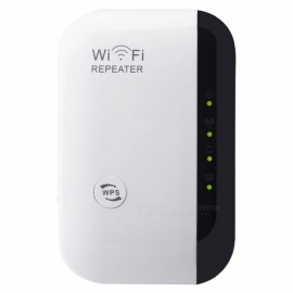 802.11b/g/n 300Mbps Wireless-N WiFi Repeater - White