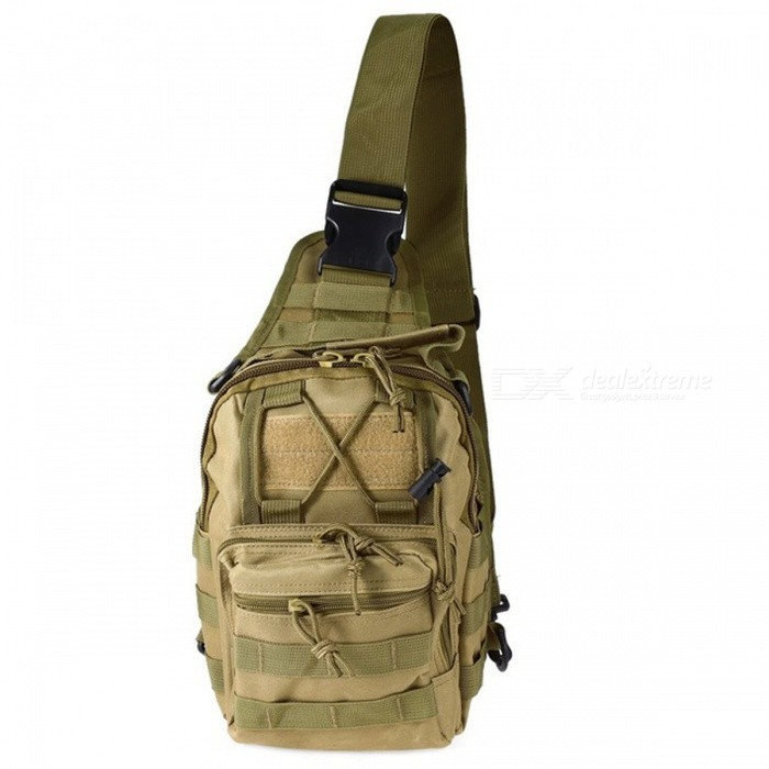 Buy Durable Outdoor Shoulder Bag, Military Tactical Backpack - Khaki with Litecoins with Free Shipping on Gipsybee.com