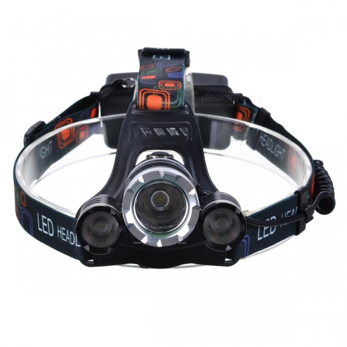 XM-L T6 3-LED White Light 5000Lm Rechargeable Headlight (UK Plug)
