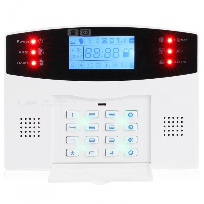 Quad-band-GSM-Family-Security-Alarm-System-White-(EU-Plug)