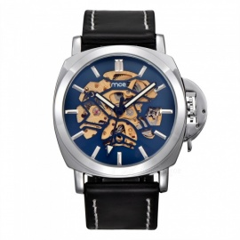 MCE-01-0060497-Mens-Leather-Automatic-Mechanical-Watch-Blue