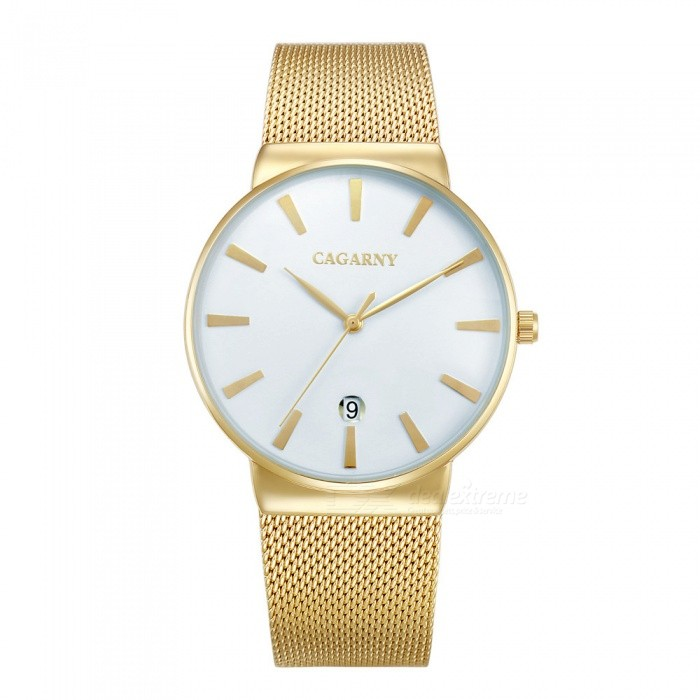 CAGARNY 6817 Fashion Ultra Thin Men's Quartz Watch - White, Golden for sale for the best price on Gipsybee.com.