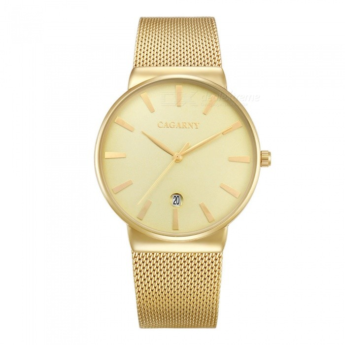 CAGARNY 6817 Fashion Ultra Thin Mens Quartz Watch - Yellow, GoldenQuartz Watches<br>Form  ColorYellow + Golden + Multi-ColoredModel6817Quantity1 DX.PCM.Model.AttributeModel.UnitShade Of ColorYellowCasing MaterialAlloy + IP platedWristband MaterialStainless steelSuitable forAdultsGenderMenStyleWrist WatchTypeFashion watchesDisplayAnalogBacklightNoMovementQuartzDisplay Format12 hour formatWater ResistantFor daily wear. Suitable for everyday use. Wearable while water is being splashed but not under any pressure.Dial Diameter4 DX.PCM.Model.AttributeModel.UnitDial Thickness0.8 DX.PCM.Model.AttributeModel.UnitWristband Length24.5 DX.PCM.Model.AttributeModel.UnitBand Width2.2 DX.PCM.Model.AttributeModel.UnitBatterysr626sw/1pcPacking List1 x Watch<br>
