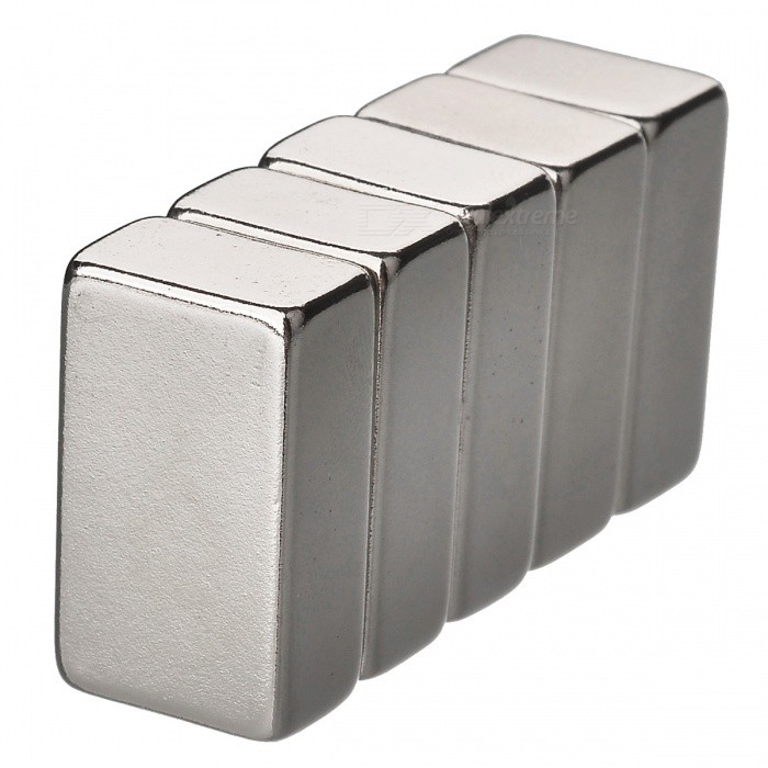 JEDX 25mm x 15mm x 10mm Rectangle NdFeB Neodymium Magnets (5 PCS)Magnets Gadgets<br>Form  ColorSilverQuantity1 DX.PCM.Model.AttributeModel.UnitNumber5MaterialNdFeBSuitable Age 12-15 years,Grown upsPacking List5 x Magnets<br>