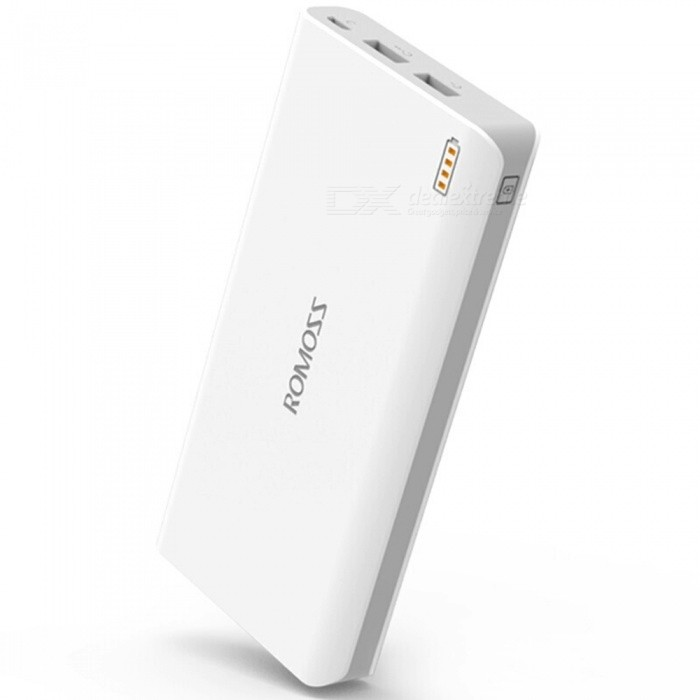 ROMOSS Sense6 20000mAh Big Capacity Dual USB Power Bank-Weiß