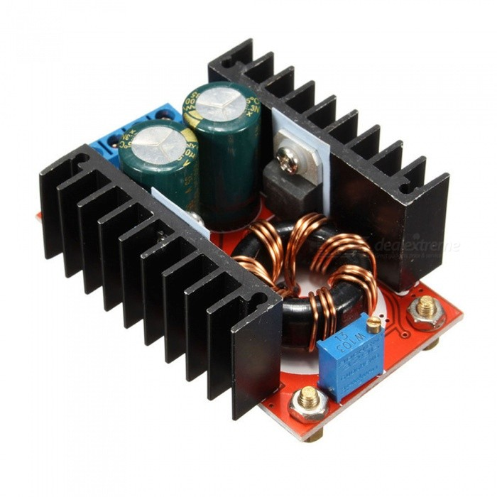 Buy DC-DC10-32V to 12-35V150W6A Adjustable Boost Power Supply Module with Litecoins with Free Shipping on Gipsybee.com