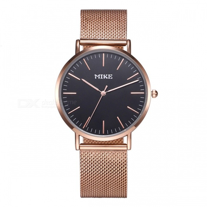 MIKE 8070 Simple Style Unisex Quartz Watch - Rose Gold, BlackQuartz Watches<br>Form  ColorBlack + Rose GoldModel8070Quantity1 DX.PCM.Model.AttributeModel.UnitShade Of ColorGoldCasing MaterialAlloyWristband MaterialMetalSuitable forCoupleGenderUnisexStyleWrist WatchTypeFashion watchesDisplayAnalogBacklightNoMovementQuartzDisplay Format12 hour formatWater ResistantFor daily wear. Suitable for everyday use. Wearable while water is being splashed but not under any pressure.Dial Diameter4 DX.PCM.Model.AttributeModel.UnitDial Thickness1 DX.PCM.Model.AttributeModel.UnitWristband Length23 DX.PCM.Model.AttributeModel.UnitBand Width2 DX.PCM.Model.AttributeModel.UnitBattery626Packing List1 x Watch<br>