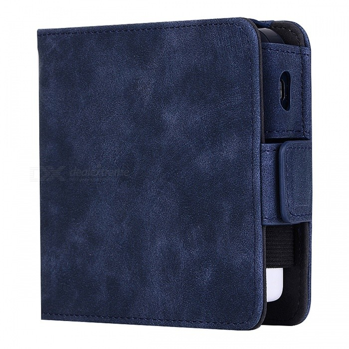 Buy KELIMA Retro Style Leather Electronic Cigarette Case - Blue with Litecoins with Free Shipping on Gipsybee.com
