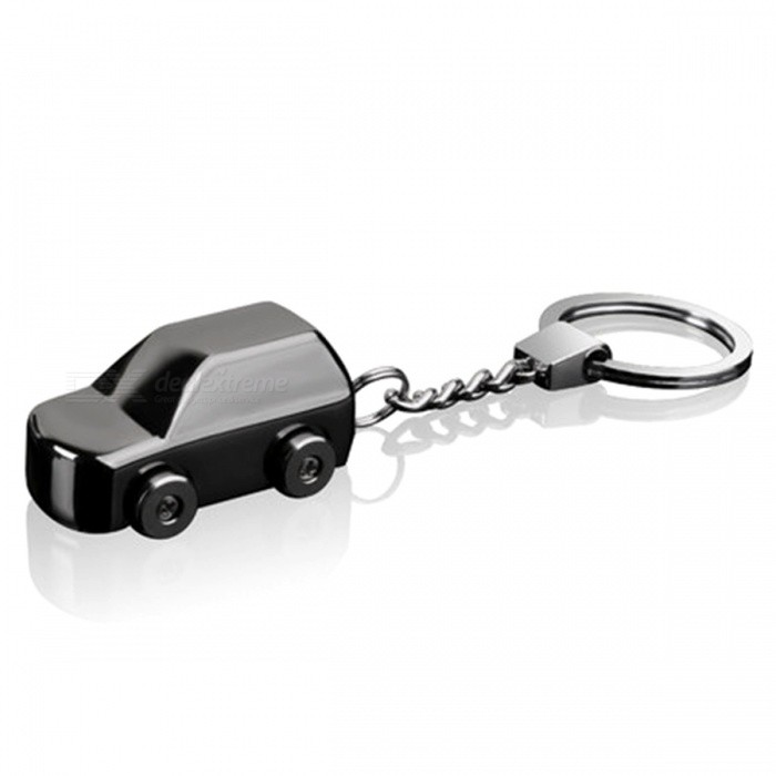 Creative-Car-Style-USB-Rechargeable-Cigarette-Lighter-Keychain-Black