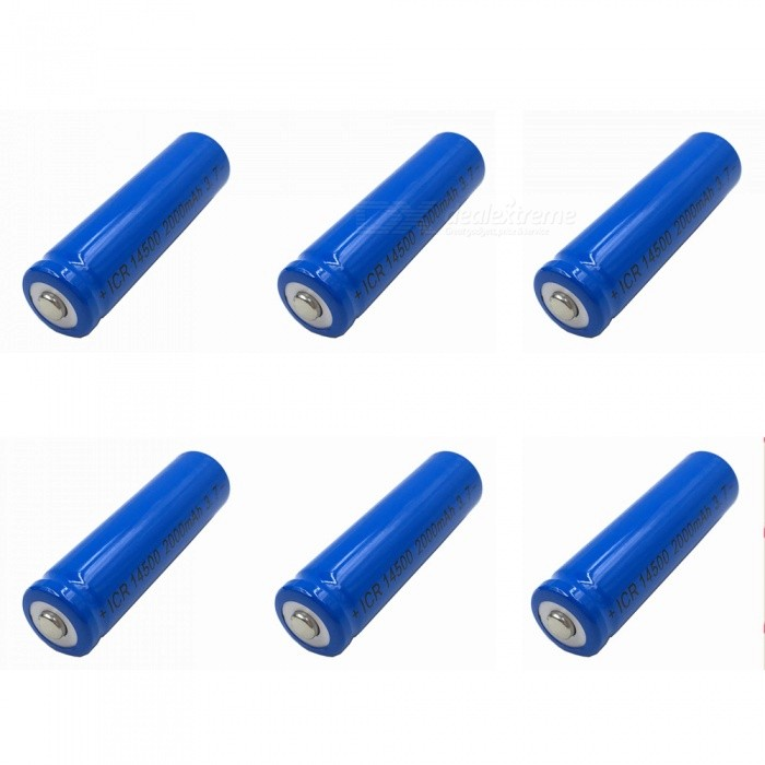 ZHAOYAO-6Pcs-37V-14500-2000mAh-Rechargeable-Lithium-Battery-Blue