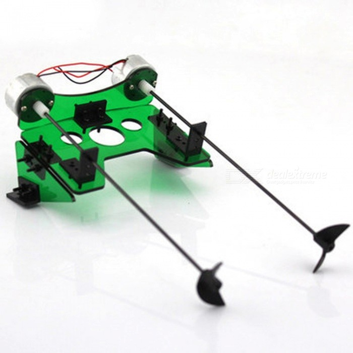 Dual Motor DIY Manual Assembly Package Module - GreenEducational Toys<br>Form  ColorGreenMaterialPlasticQuantity1 DX.PCM.Model.AttributeModel.UnitSuitable Age 12-15 years,Grown upsPacking List1 x Ship model kit (need to bring their own battery box or solar panels)<br>