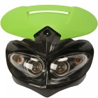 CARKING-LED-Motorcycle-Headlight-Enduro-Cross-Lamp-Black-Green
