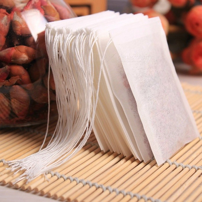 P-TOP 100Pcs  /Lot Teabags 5.5 x 7CM Empty Scented Tea Bags - WhiteLifestyle Gadgets<br>Form  ColorWhiteMaterialNon-woven fabricsQuantity100 DX.PCM.Model.AttributeModel.UnitPacking List100 * Empty tea bags<br>