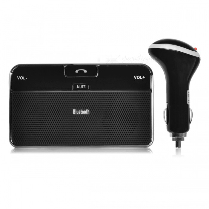 Universal Car Bluetooth 4.0 EDR Sun Visor Handsfree Speaker ReceiverOther Bluetooth Devices<br>Form  ColorBlackModelN/AMaterialPlastic + alloyQuantity1 DX.PCM.Model.AttributeModel.UnitShade Of ColorBlackBluetooth VersionBluetooth V4.0Bluetooth ChipCSROperating Range10MStandby Time18 DX.PCM.Model.AttributeModel.UnitApplicable ProductsIPHONE 5,IPHONE 4,IPHONE 4S,IPHONE 3G,IPHONE 3GS,IPHONE 5S,IPHONE 5CBuilt-in Battery Capacity 650 DX.PCM.Model.AttributeModel.UnitPower AdapterUSBPower Supply0.5APacking List1 x Bluetooth 4.0 Speakerphone1 x USB Cable1 x Charger<br>