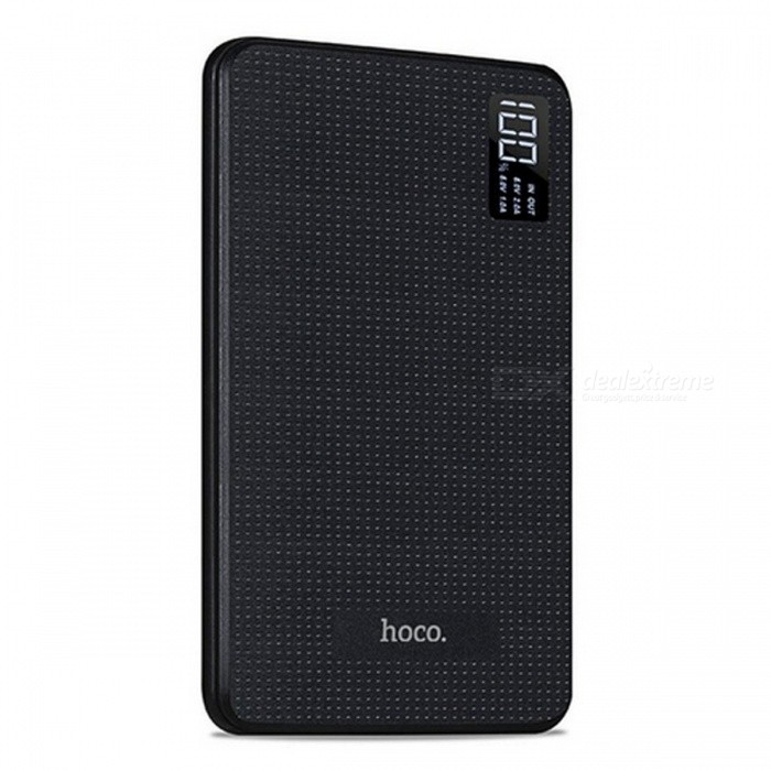 HOCO B24 30000mAh Power Bank with LCD Display - BlackMobile Power<br>Form  ColorBlackModelB24Quantity1 DX.PCM.Model.AttributeModel.UnitMaterialABS + PC flame retardant materialShade Of ColorBlackCompatible ModelsOthers,UniversalCompatible TypeUniversalBattery TypeLi-polymer batteryBuilt-in Battery Model18650Voltage5 DX.PCM.Model.AttributeModel.UnitCapacity Range20000mAh and aboveNominal Capacity30000 DX.PCM.Model.AttributeModel.UnitInput5V/2AOutput interface, output current, output voltageUSB1: 5V / 2A<br>USB2: 5V / 2A<br>USB3: 5V / 1AQuick Charge5V/2AFeaturesLED IndicatorCertificationFCC,CE,RoHSPacking List1 x Power Bank<br>