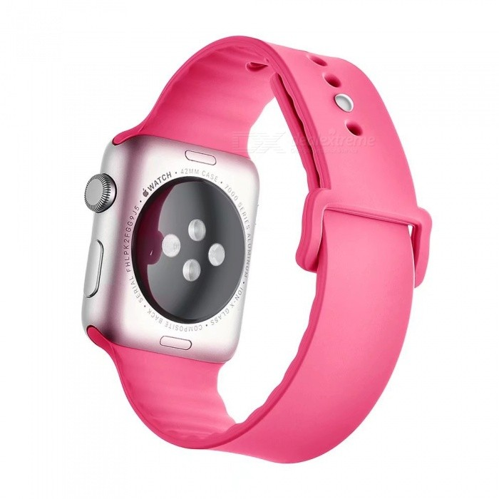 Miimall Soft Silicone Watch Strap for Apple Watch 38mm - PinkWearable Device Accessories<br>Form  ColorPinkQuantity1 DX.PCM.Model.AttributeModel.UnitMaterialSiliconePacking List1 x Soft silicone Watch Band for Apple Watch 38mm<br>