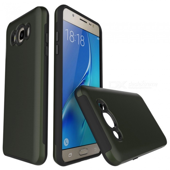 Wire Drawing PC TPU Case for Samsung Galaxy J710 - Army GreenPlastic Cases<br>Form  ColorArmy GreenModelN/AMaterialPC + TPUQuantity1 DX.PCM.Model.AttributeModel.UnitShade Of ColorGreenFeaturesAnti-slip,Dust-proof,Shock-proof,Abrasion resistance,Easy-to-removeCompatible ModelsSamsung Galaxy J7 / J710 (2016)Packing List1 x Case<br>