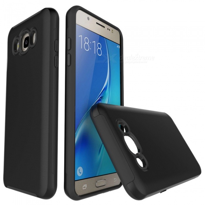 Protective Wire Drawing PC TPU Case for Samsung Galaxy J710 - BlackPlastic Cases<br>Form  ColorBlackModelN/AMaterialPC + TPUQuantity1 DX.PCM.Model.AttributeModel.UnitShade Of ColorBlackFeaturesAnti-slip,Dust-proof,Shock-proof,Abrasion resistance,Easy-to-removeCompatible ModelsSamsung Galaxy J7 / J710 (2016)Packing List1 x Case<br>