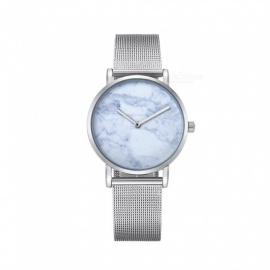CAGARNY-6812-Womens-Marble-Pattern-Quartz-Watch-Silver-Blue
