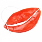 Thick Sausage Funny Big Mouth Mask - Red