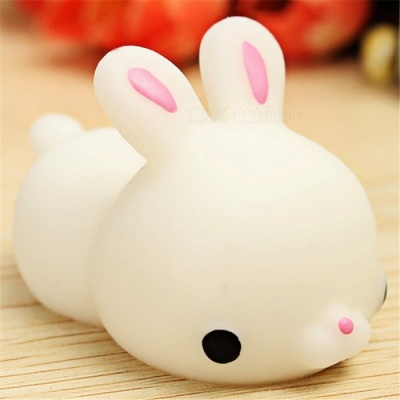 Maikou Vent Toy Cute Rabbit Style Squeeze Stress Release Toy - White