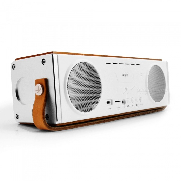 Buy KEJEE Wooden 20W Bluetooth V4.1 Speaker Subwoofer with Mic with Litecoins with Free Shipping on Gipsybee.com