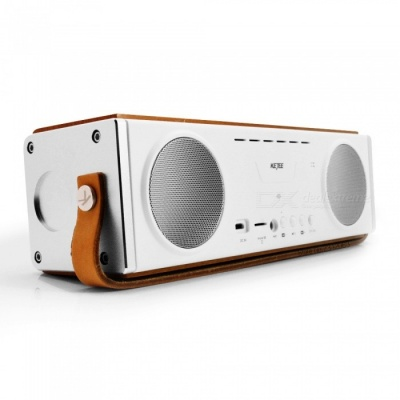 KEJEE Wooden 20W Bluetooth V4.1 Speaker Subwoofer with Mic