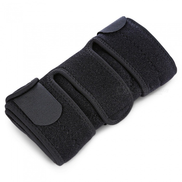 HX004-4-Spring-Adjustable-Sports-Knee-Pad-for-Outdoor-Riding-Black