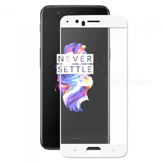 Hat-Prince Full Coverage Tempered Protector for OnePlus 5 - WhiteScreen Protectors<br>Form  ColorWhiteScreen TypeGlossyModel-MaterialTempered GlassQuantity1 DX.PCM.Model.AttributeModel.UnitCompatible ModelsOnePlus 5Features2.5D,HD,Scratch-proof,Tempered glassPacking List1 x Screen protector1 x Dust Sticker1 x Cleaning Cloth1 x Alcohol Prep Pad<br>