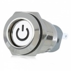 12V 16mm Metal Self-locking Button Switch with Blue Indicator Light