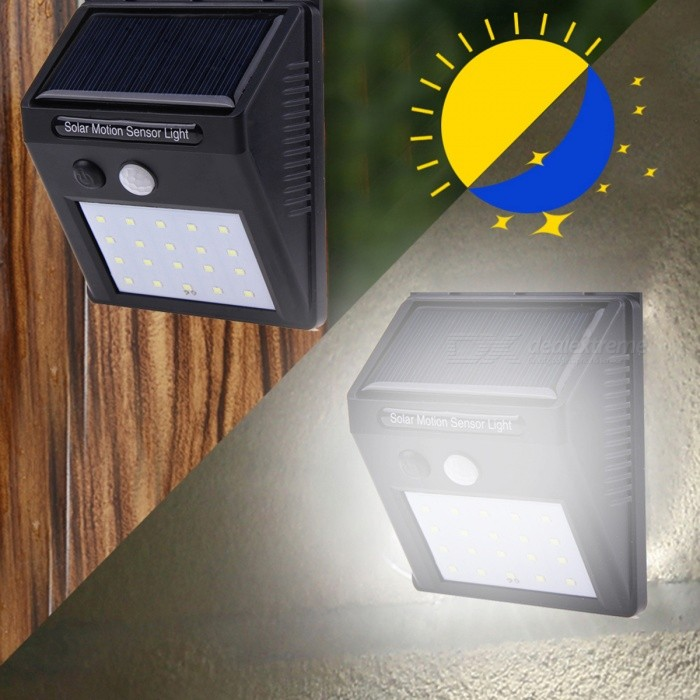 Buy JRLED 0.55W Waterproof Cold White Solar Powered Human Induction Lamp with Litecoins with Free Shipping on Gipsybee.com