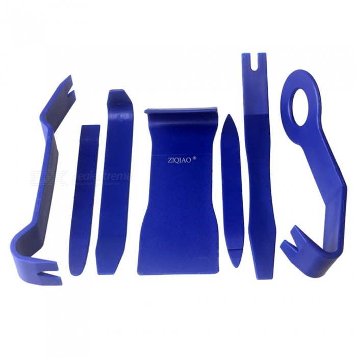 Buy ZIQIAO Car Radio Dash Audio Removal Pry Tool (7Pcs/Set) - Blue with Litecoins with Free Shipping on Gipsybee.com