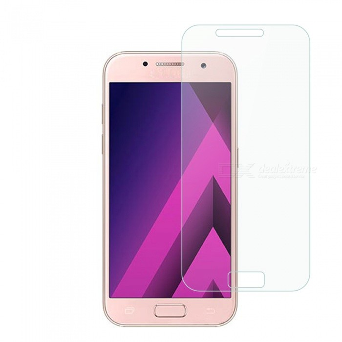 Dayspirit Tempered Glass Film for Samsung Galaxy A3(2017)Screen Protectors<br>Form  ColorTransparentScreen TypeGlossyModelN/AMaterialTempered glassQuantity1 DX.PCM.Model.AttributeModel.UnitCompatible ModelsSamsung Galaxy A3(2017)Features2.5D,Tempered glassPacking List1 x Tempered glass screen protector1 x Dust cleaning film 1 x Alcohol prep pad<br>