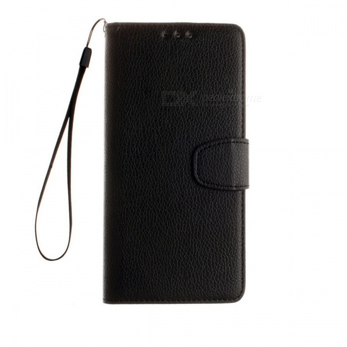 Dayspirit Lichee Pattern Leather Case for Huawei P9 Plus - BlackLeather Cases<br>Form  ColorBlackModelN/AMaterialPU leatherQuantity1 DX.PCM.Model.AttributeModel.UnitShade Of ColorBlackCompatible ModelsHuawei P9 PlusFeaturesAnti-slip,Dust-proof,Abrasion resistance,Holder functionPacking List1 x Case1 x Lanyard<br>
