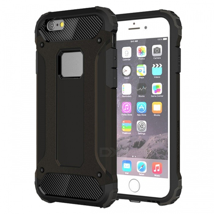 Dayspirit TPU PC Dual Layer Case for IPHONE 6 Plus - BlackTPU Cases<br>Form  ColorBlackModelN/AMaterialOthers,PC + TPUQuantity1 pieceShade Of ColorBlackCompatible ModelsIPHONE 6 PlusPacking List1 x Case<br>