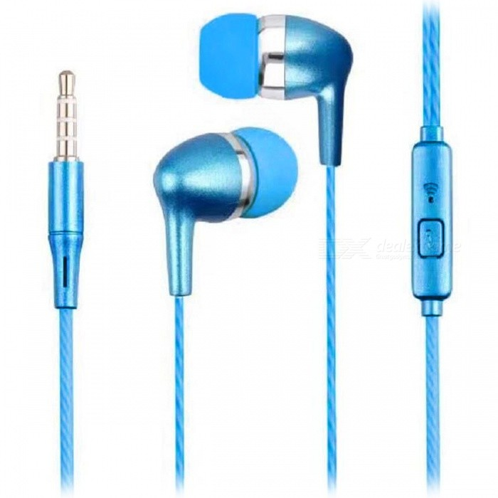 SMN-10 Stylish In-Ear Earphones with Phone Call Button - BlueHeadphones<br>Form  ColorBlueBrandOthers,N/AMaterialPlastic + alloyQuantity1 DX.PCM.Model.AttributeModel.UnitConnection3.5mm WiredBluetooth VersionNoConnects Two Phones SimultaneouslyNoCable Length110 DX.PCM.Model.AttributeModel.UnitLeft &amp; Right Cables TypeEqual LengthHeadphone StyleBilateralWaterproof LevelIPX2Applicable ProductsUniversalHeadphone FeaturesHiFiRadio TunerNoSupport Memory CardNoSupport Apt-XNoChannels2.0Packing List1 x Earphones<br>
