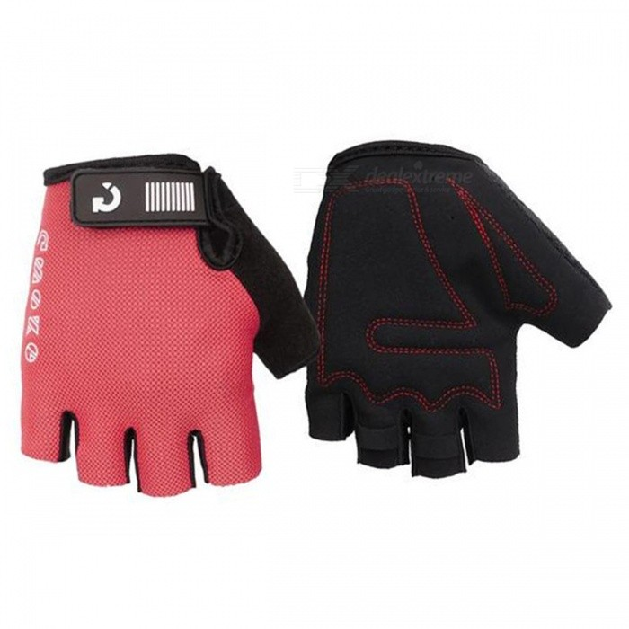 MOKE Bike Riding Anti-Slip Semi-Finger Gloves - Red (M, Pair)Gloves<br>Form  ColorRedSizeMQuantity1 DX.PCM.Model.AttributeModel.UnitMaterialSpandex MicrofiberTypeHalf-Finger GlovesSuitable forAdultsGenderUnisexPalm Girth18 DX.PCM.Model.AttributeModel.UnitGlove Length13 DX.PCM.Model.AttributeModel.UnitBest UseCycling,Mountain Cycling,Recreational Cycling,Road CyclingPacking List1 x Pair of gloves<br>