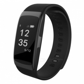 S68 Smart Sports Bracelet Wristband Heart Rate Monitoring - Black