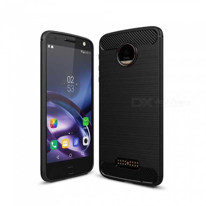 Dayspirit Wire Drawing Carbon Fiber TPU Case for Motorola Moto ZTPU Cases<br>Form  ColorBlackModelN/AMaterialTPUQuantity1 pieceShade Of ColorBlackCompatible ModelsMotorola Moto ZPacking List1 x Case<br>