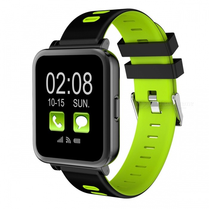 SN10 Bluetooth Smart Watch Heart Rate Monitoring PedometerSmart Watches<br>Form  ColorGreen + Black + Multi-ColoredQuantity1 DX.PCM.Model.AttributeModel.UnitMaterialABSShade Of ColorGreenCPU ProcessorMT2502DScreen Size1.54 DX.PCM.Model.AttributeModel.UnitScreen Resolution240*240Touch Screen TypeYesBluetooth VersionBluetooth V4.0Compatible OSIOS&amp;AndroidLanguageEnglishWristband Length22 DX.PCM.Model.AttributeModel.UnitWater-proofNoBattery ModeNon-removableBattery TypeLi-polymer batteryBattery Capacity230 DX.PCM.Model.AttributeModel.UnitStandby Time5-7 DX.PCM.Model.AttributeModel.UnitPacking List1 x Smart Watch1 x USB Cable 1 x English Manual<br>