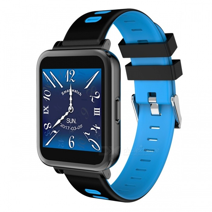 D10 Bluetooth Smart Watch Heart Rate Monitoring Pedometer - BlueSmart Watches<br>Form  ColorBlue + Black + Multi-ColoredQuantity1 DX.PCM.Model.AttributeModel.UnitMaterialABSShade Of ColorBlueCPU ProcessorMT2502DScreen Size1.54 DX.PCM.Model.AttributeModel.UnitScreen Resolution240*240Touch Screen TypeYesBluetooth VersionBluetooth V4.0Compatible OSIOS&amp;AndroidLanguageEnglishWristband Length22 DX.PCM.Model.AttributeModel.UnitWater-proofNoBattery ModeNon-removableBattery TypeLi-polymer batteryBattery Capacity230 DX.PCM.Model.AttributeModel.UnitStandby Time5-7 DX.PCM.Model.AttributeModel.UnitPacking List1 x Smart Watch1 x USB Cable 1 x English Manual<br>
