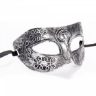 Halloween Carved Flower Mask - Silver